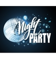 Night Party Typography design vector image vector image