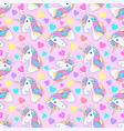 pattern with colorful unicorn vector image vector image