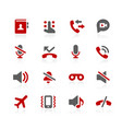 phone calls interface icons vector image