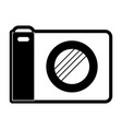 photo camera icon in black silhouette with thick vector image vector image