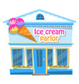 restaurant or shop with sorbet ice-cream vector image