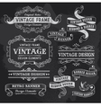 retro vintage banners and ribbons vector image vector image