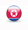 round icon with national flag north korea vector image vector image