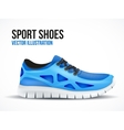 Running blue shoes Bright Sport sneakers symbol vector image vector image