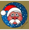 Santa Claus in a gold circular window vector image