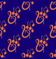 seamless pattern on musical theme with violin key vector image vector image