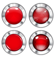 Set of red buttons vector image vector image