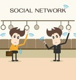social network businessman vector image vector image