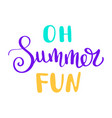 summer letterings hand drawn brush multicolor vector image
