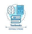 textbooks concept icon educational literature vector image