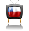 the flag chile inside tv vector image