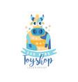 toyshop for kids logo design cute badge can