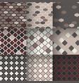 traditional quatrefoil lattice seamless patterns vector image