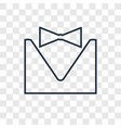 tuxedo concept linear icon isolated on vector image