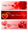 Valentine banner set vector image vector image