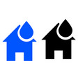 water supply at home icon vector image