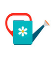 watering can icon on white background vector image vector image