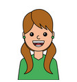 young woman happy avatar character vector image vector image