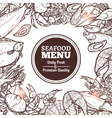 Seafood Sketch Menu vector image