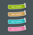 Colorful paper best choice label roll vector image