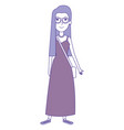 beautiful woman with handbag avatar character vector image