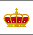 ornate crown vector image