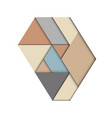 abstract geometric triangle material style vector image