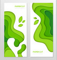 abstract green banner - set template vector image vector image