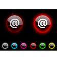 Arroba button vector image vector image