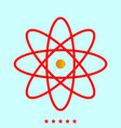 atom it is icon vector image