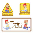 bain car sign stickers or vector image