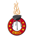 Barbecue grill label - barbecue grill symbol vector | Price: 1 Credit (USD $1)