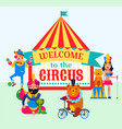 big top circus and performers vector image vector image