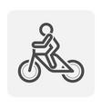 bike icon black vector image