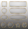 Blank glass buttons with gold frame vector image vector image