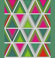 bright pattern of triangles vector image vector image