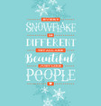card banner or poster with hand drawn snowflakes vector image vector image