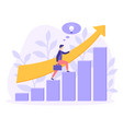 career growth startup business people flat vector image