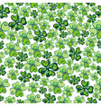 clover seamless background vector image vector image