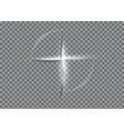 cross of light shiny with white lights frame vector image