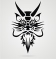Dragon Head Tribal vector image vector image
