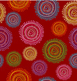 Ethnic seamless pattern in bright color with vector image vector image