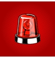 Flasher siren red color comic book style vector image