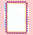 frame and border of ribbon with puerto rico flag vector image