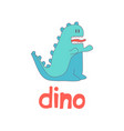 funny cartoon dino logo vector image vector image