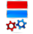 Gear Cog Logo Labels vector image vector image