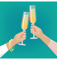 Girlfriends clink glasses of champagne vector image vector image