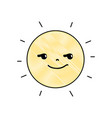 grated rogue and cute sun kawaii weather vector image vector image