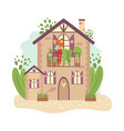 green city ecology infrastructure town buildings vector image vector image