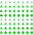 Green star symbol set vector image